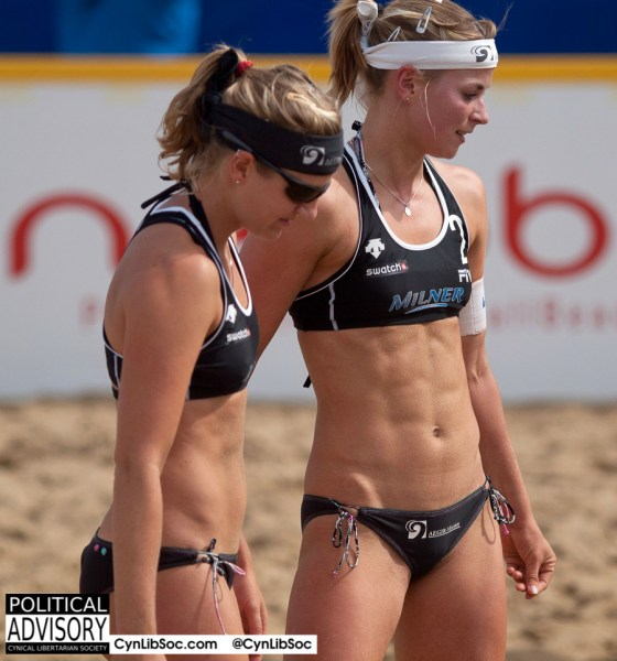 Volleyball chycks don't need permission to look hot.