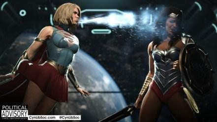 Looks like Wonder Woman is Supergirlphobic.