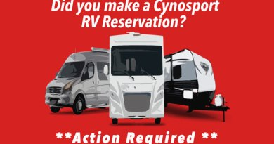 Cynosport RV Reservation Confirmations
