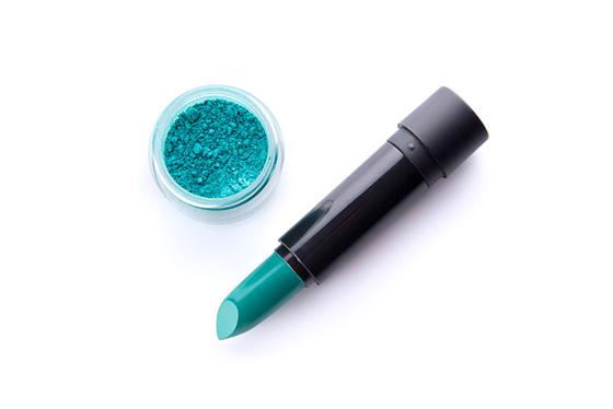 fashion and beauty, blue lipstick, turquoise lipstick
