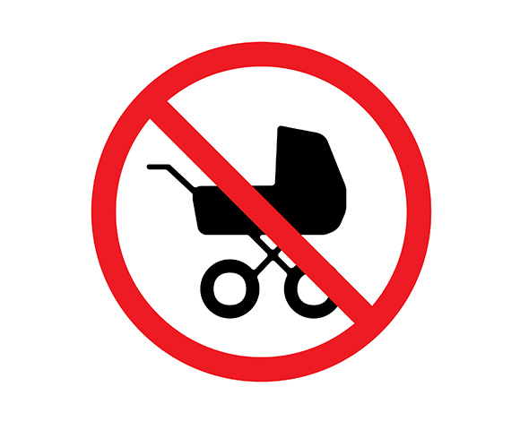 kids, child-free, childless, stroller, baby carriage, infertility, fertility