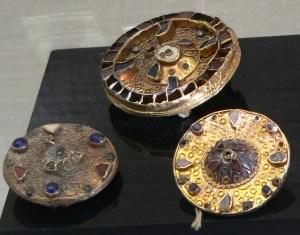 Merovingian Fibulas, decorative brooches