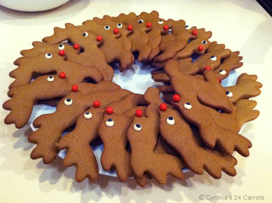Gingerbread Reindeer Cookies Cynthia S 24 Carrots New York Bakery