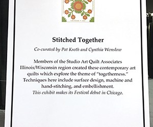Stitched Together Exhibition Debut