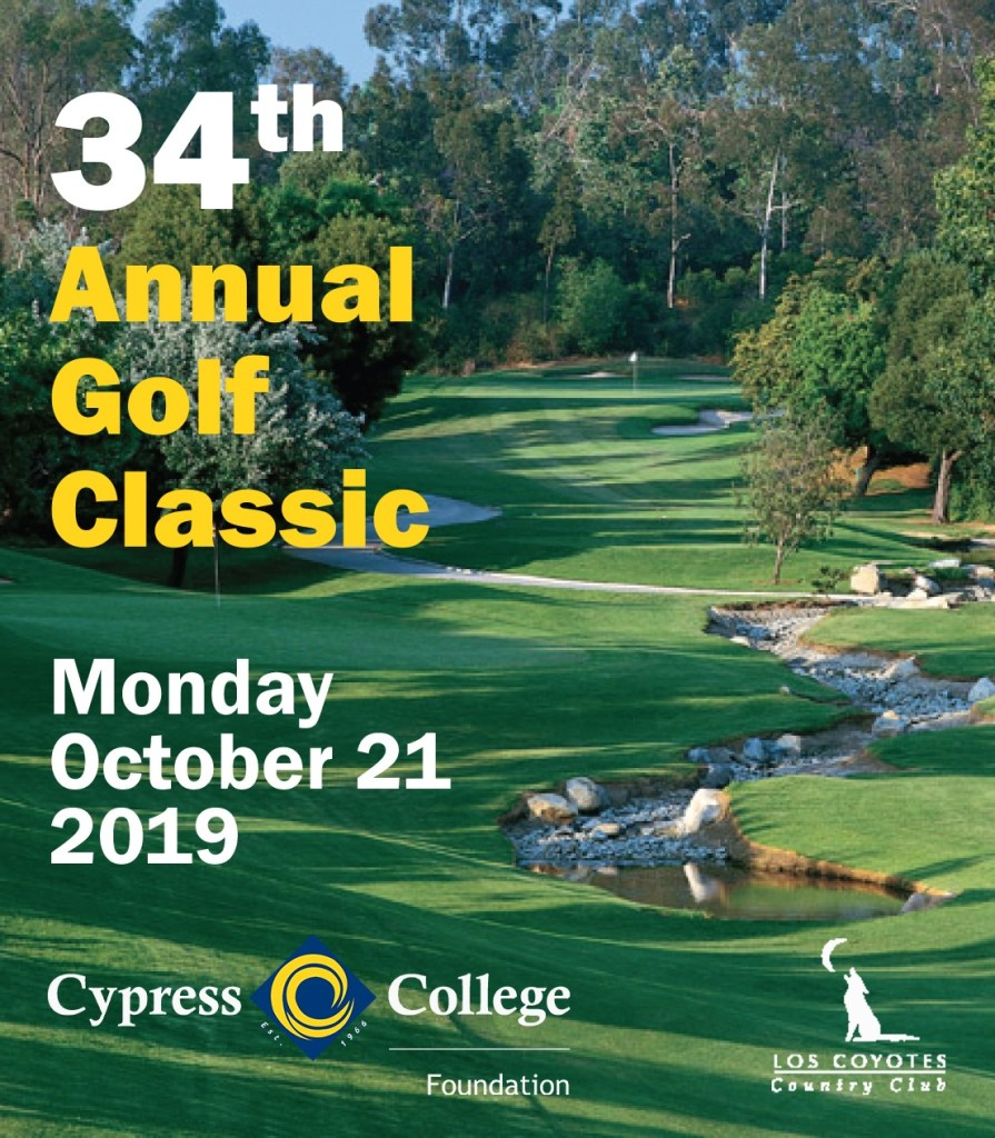 Flyer for the 34th annual golf classic event