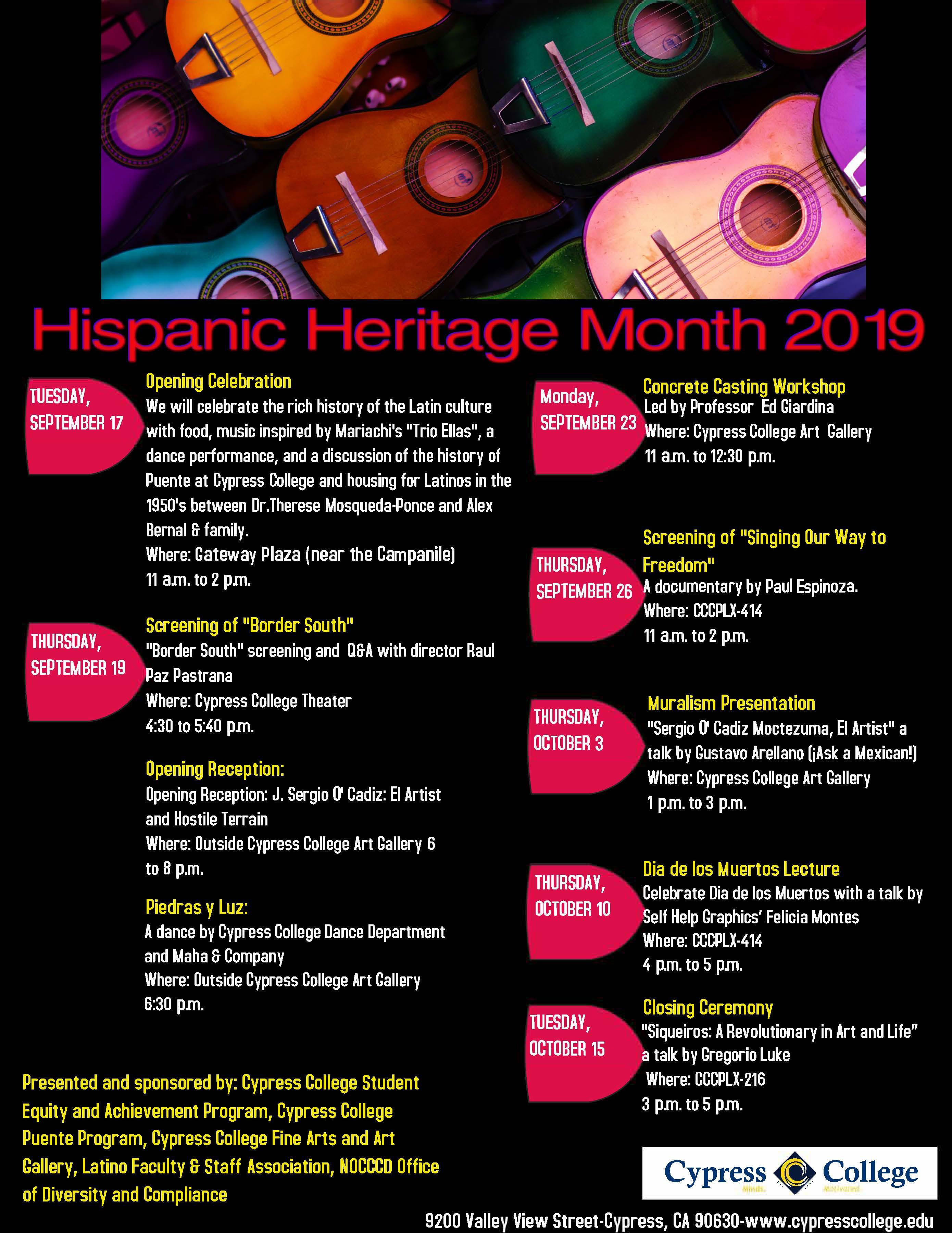2019 Hispanic Heritage Month events