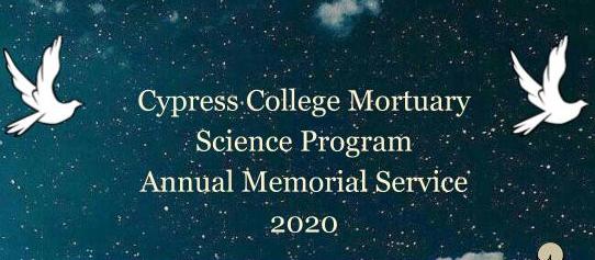 Cypress College Memorial Service Announcement