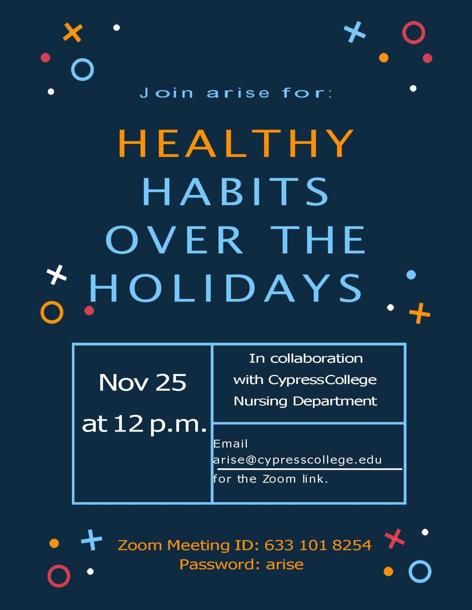 Healthy Habits workshop flyer