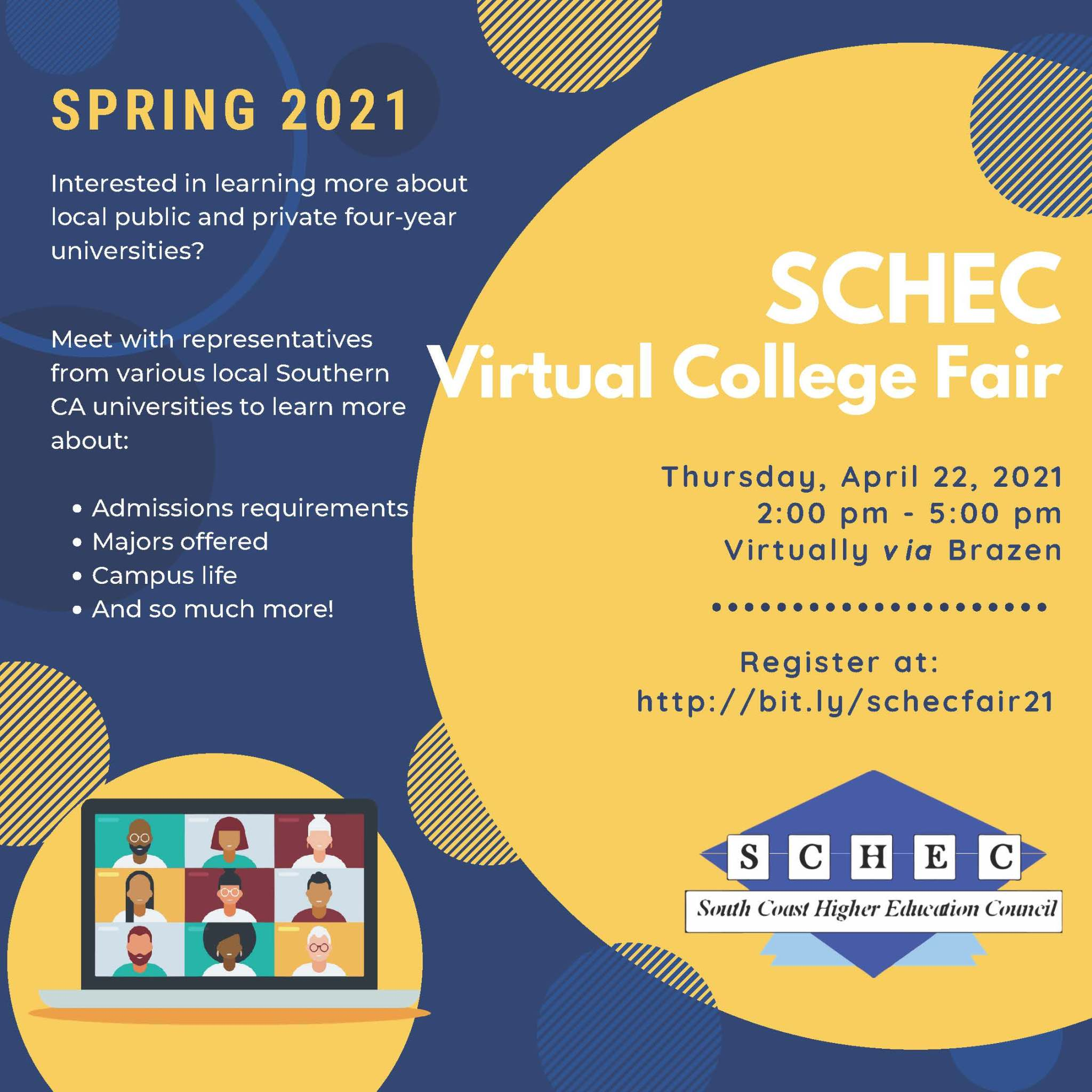 SCHEC Virtual College Fair Flyer