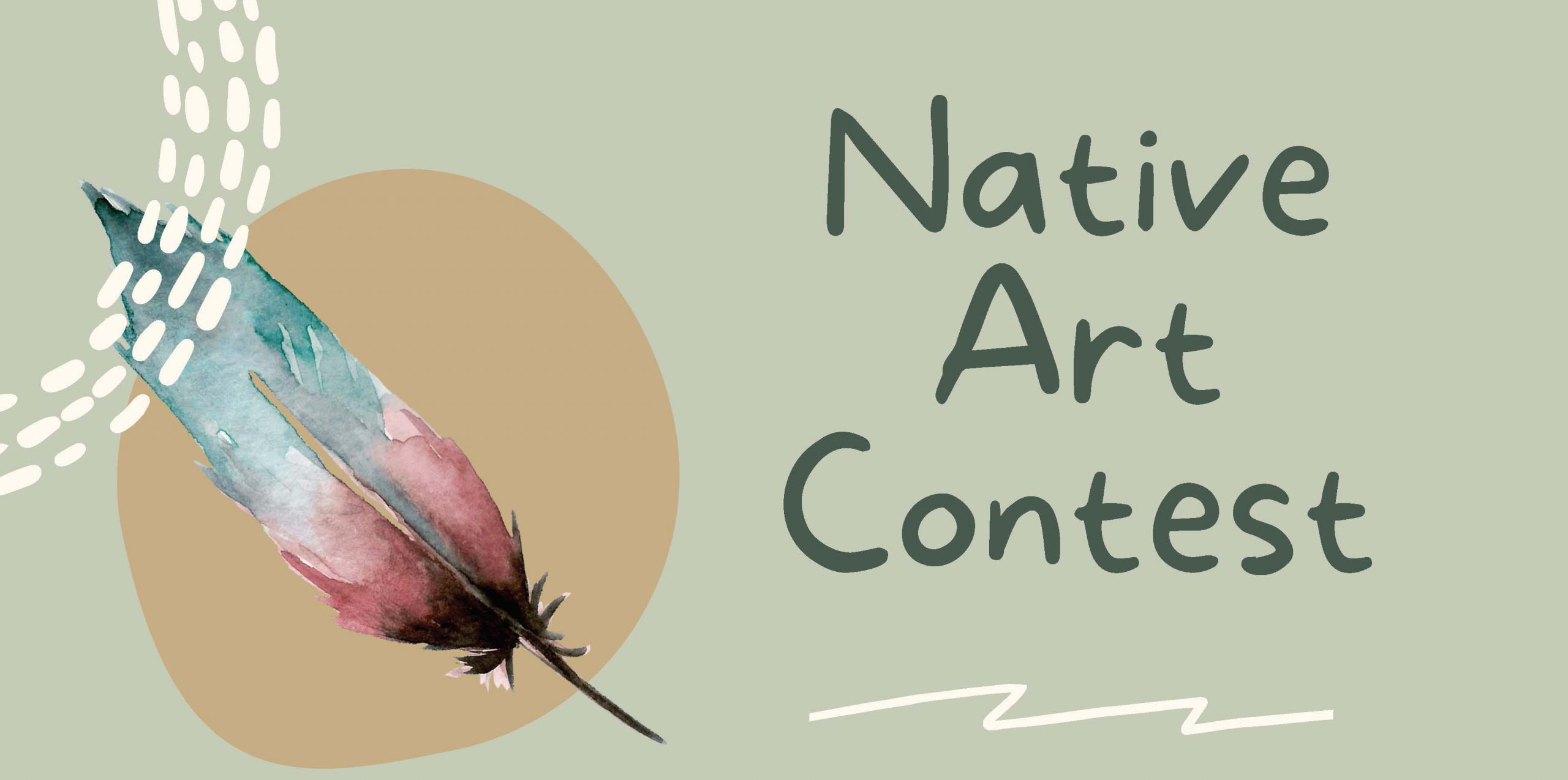 Feather with words Native Art Contest