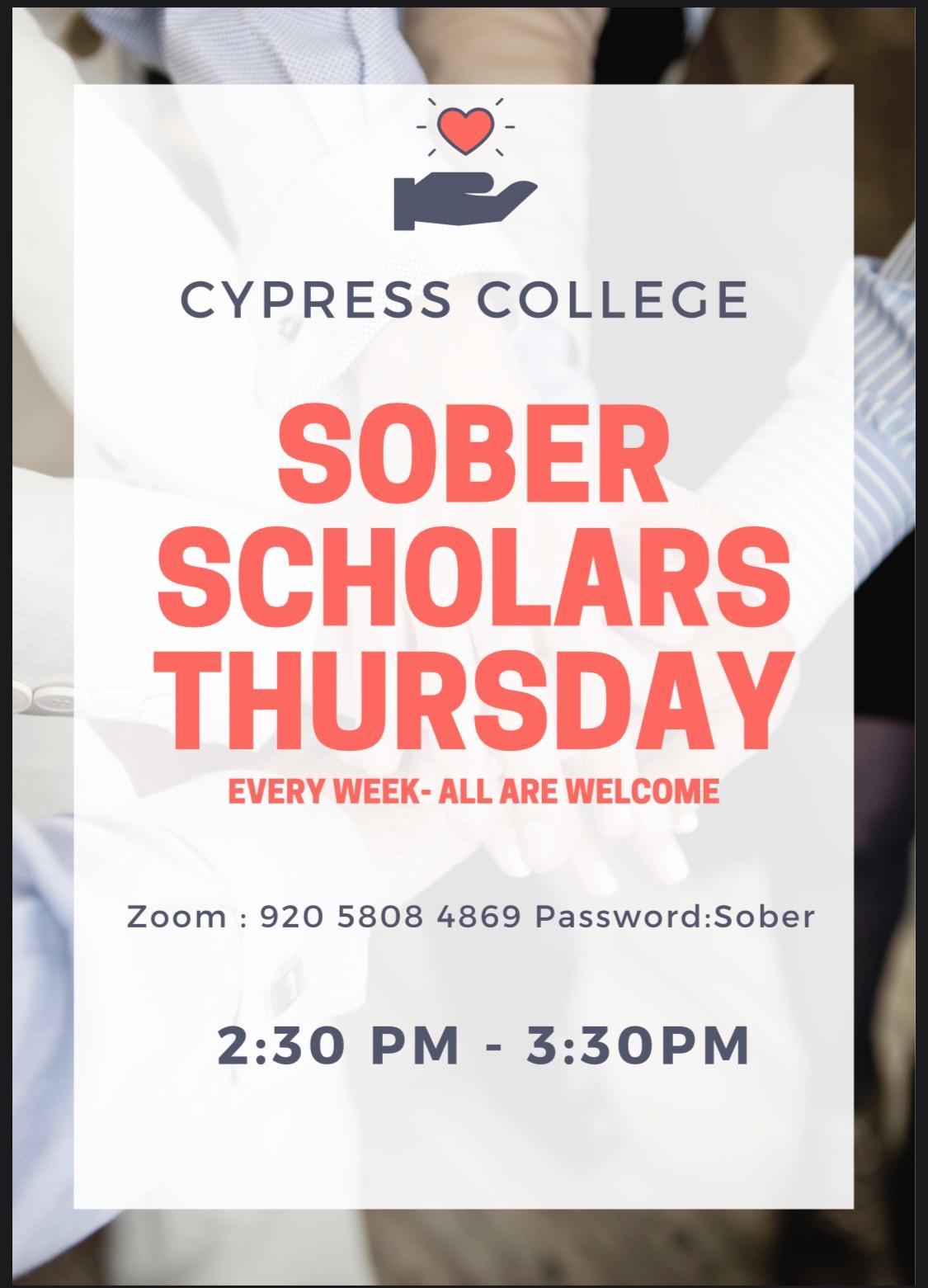 Sober Scholars flyer