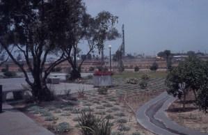 Former garden on campus