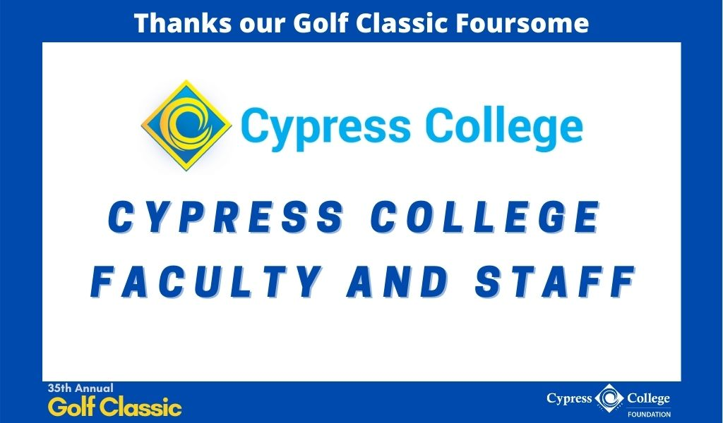 "Cypress College logo and words ""Cypress College Faculty and Staff"""