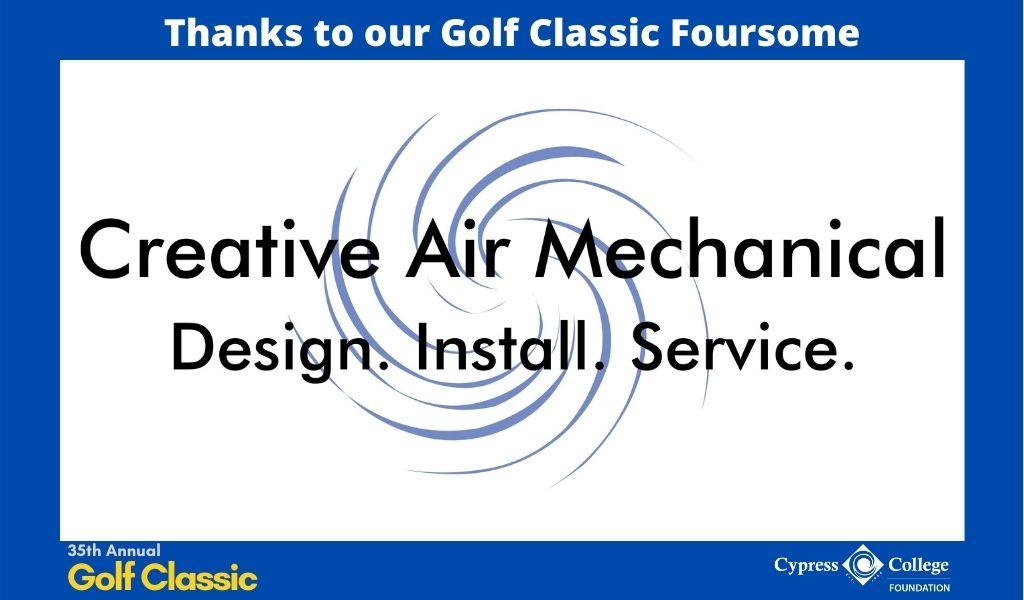 Creative Air Mechanical Design. Install. Service. logo