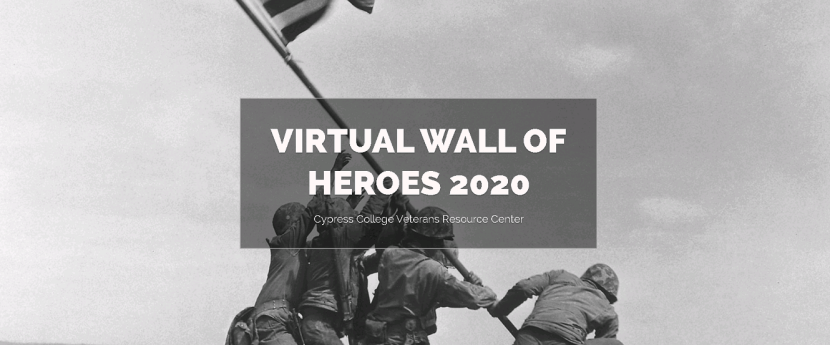 Virtual Wall of Heroes Landing Page