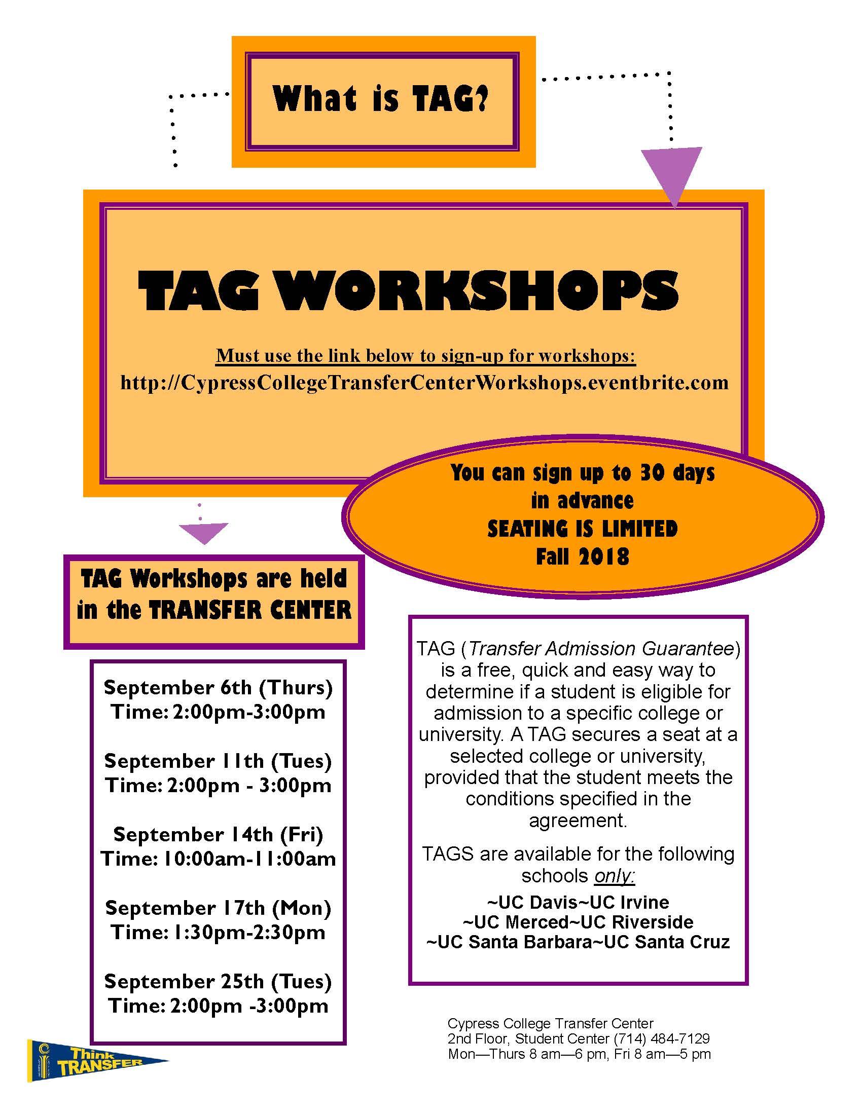 Tag Workshops Cypress College