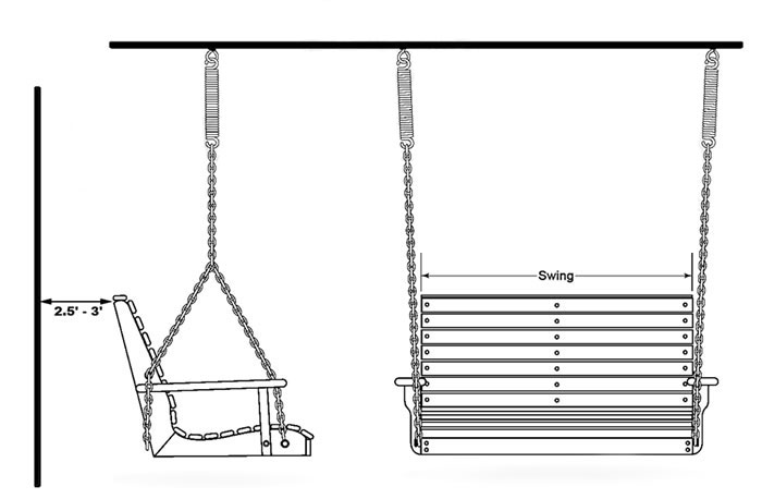 install a patio swing