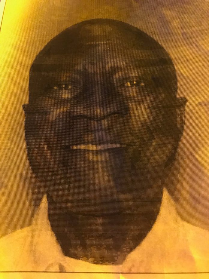 """Arthur Edigin, 62, is the suspect in connection with the shooting outside the Christ the Redeemer Catholic Church on Huffmeister. He's 5'4"""", 144 lbs. Driving a white '08 Suburban with a damaged right front quarter panel. (HCSO courtesy photo)"""