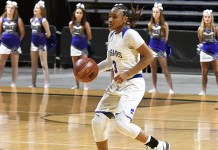 Cypress Creek High School sophomore Rori Harmon and the Cougars advanced to the Region III-6A tournament for the second year in a row. They defeated Katy 71-41 to advance and will face Humble Summer Creek in the regional semifinals on Feb. 22 at the Merrell Center in Katy. (CFISD courtesy photo)