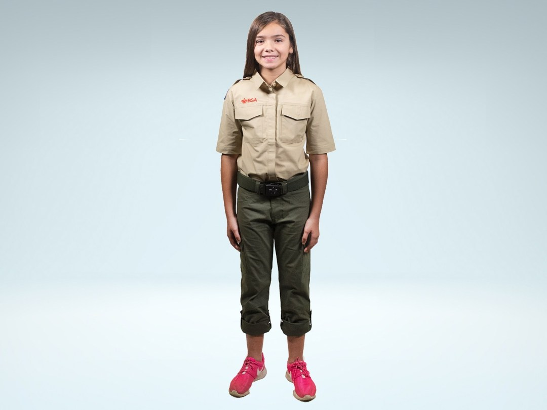 The new female Scouts BSA uniform. (BSA)