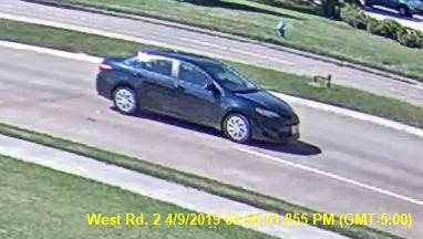 CFISD police released photos of the suspect vehicle just seconds before the student was struck near Aragon Middle School yesterday afternoon (April 9, 2019). If you have any information, contact CFISD PD at 832-237-2373. (courtesy photo)