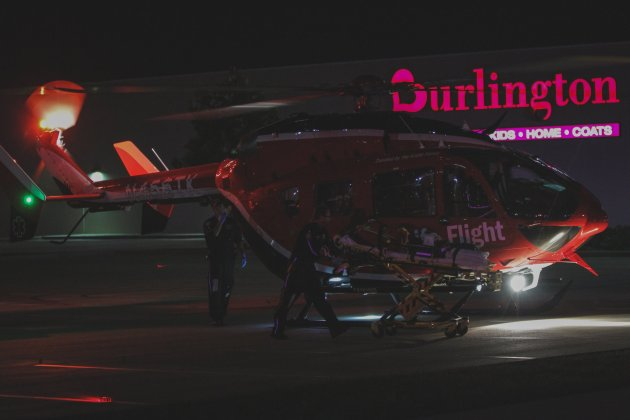 Memorial Hermann Life Flight assists Cy-Fair VFD crews with an auto-pedestrian accident at the intersection of FM 529 and Sommerall Dr. in Houston just before 9:00 p.m. Saturday, June 8, 2019. The Harris County Sheriff's Office is investigating the incident. (CFVFD PIO courtesy photo by Lt. Daniel Arizpe)