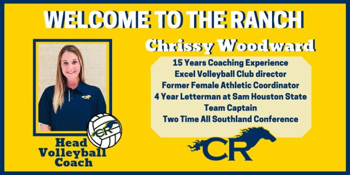 Chrissy Woodward will take the helm of Cy Ranch's volleyball team this fall. (CFISD image)
