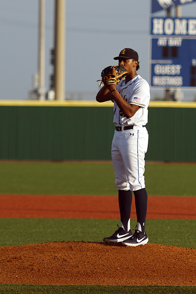 Cypress Ranch High School graduate Matthew Thompson earned first-team honors on the 2019 Texas Sports Writers Association All-State Class 6A Baseball Team. The right-handed pitcher was among four Mustangs and seven total CFISD standouts named to the team. (courtesy CFISD Communications)