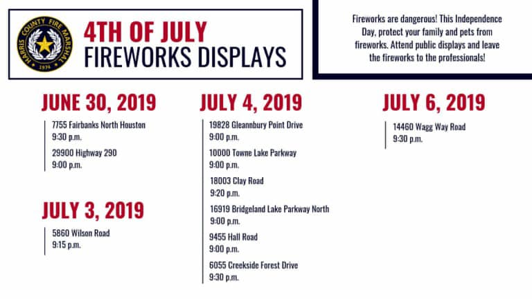 Cypress area Independence Day 2019 fireworks shows ...