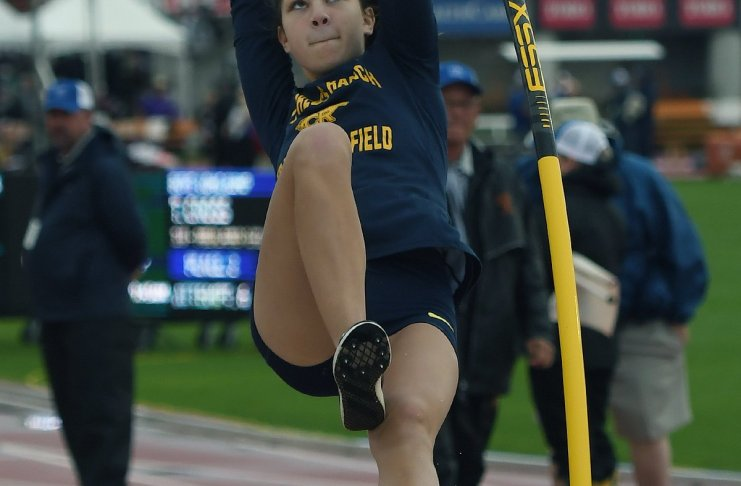 Cypress Ranch High School graduate Hannah Miller was named to the Texas High School Coaches Association Academic All-State Team. The pole vault state medalist was named to the second team. (CFISD courtesy photo)