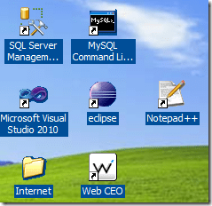 Windows Desktop Icons with a Background Image