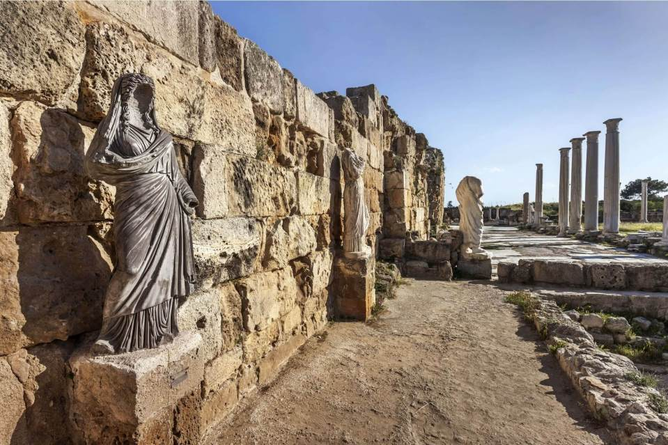 Salamis Ruins in Famagusta, North Cyprus