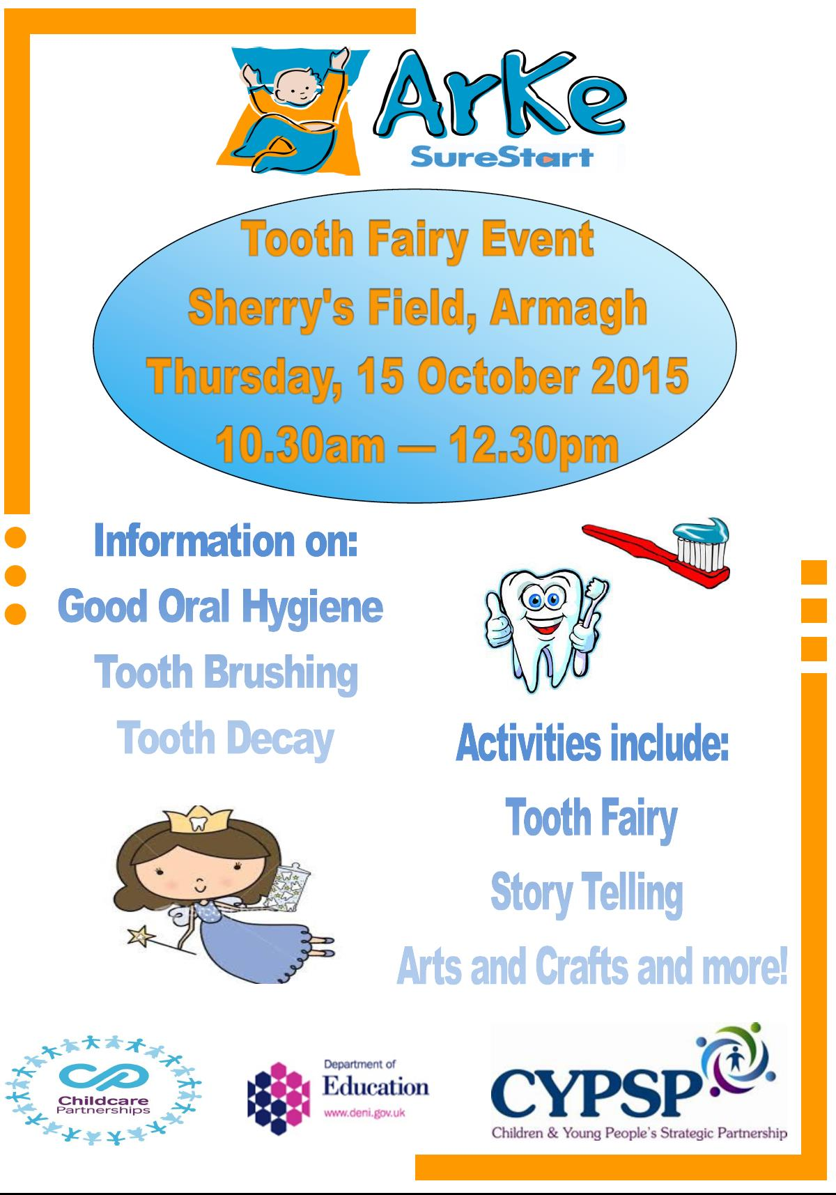 Tooth Fairy Event Armagh Children And Young People S Strategic Partnership Cypsp