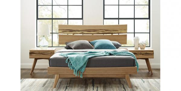 cadre de lit double bambou caramel 2150x2000mm