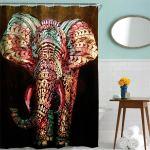 3d Waterproof Elephant Shower Curtain Print Bathroom Decor