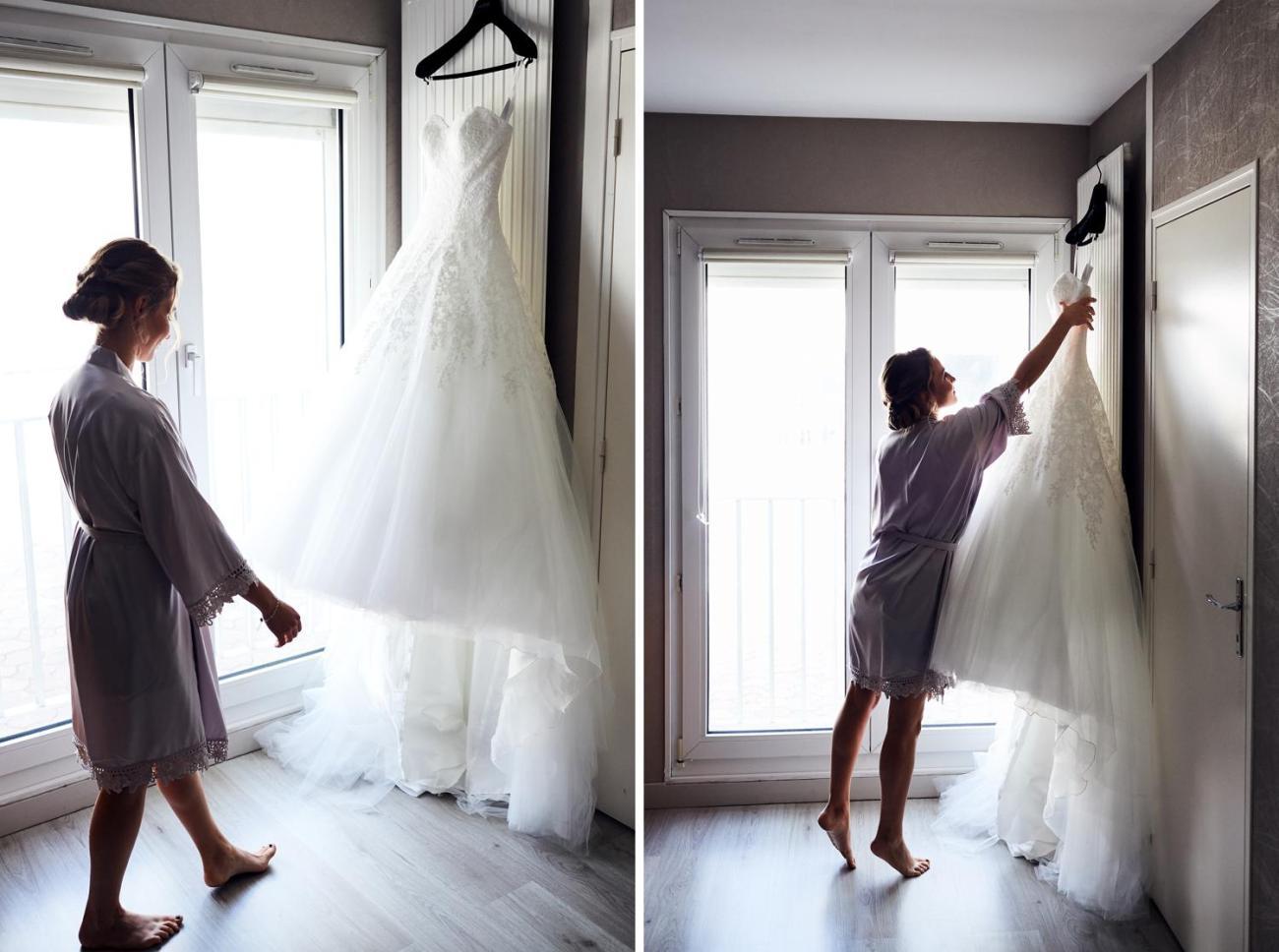 Mariée et sa robe de mariage
