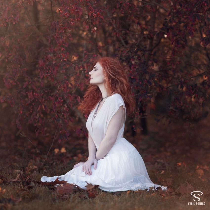 Séance de portrait en automne par le photographe Cyril Sonigo