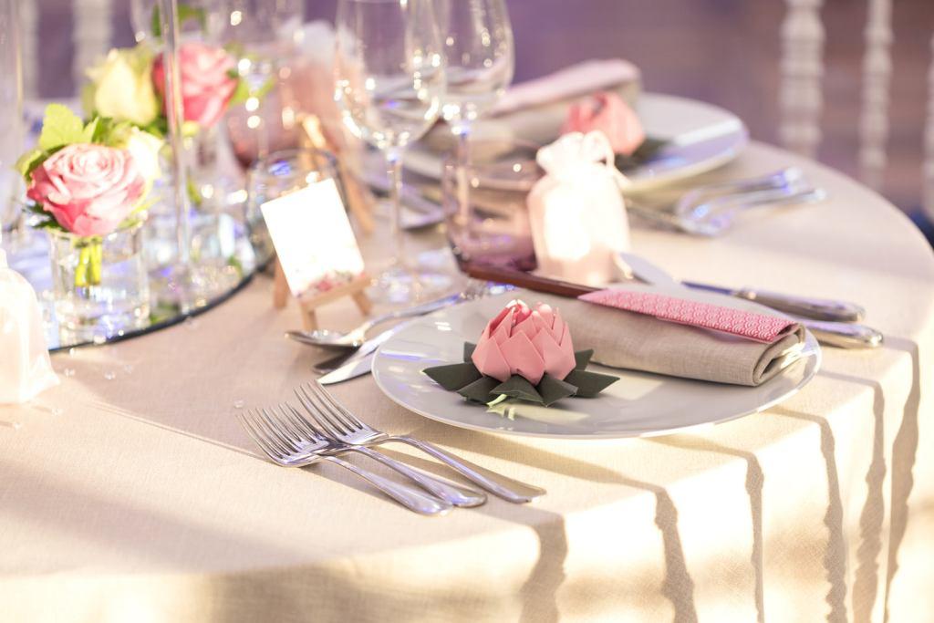 Décoration de table de mariage au Domaine de la Butte Ronde