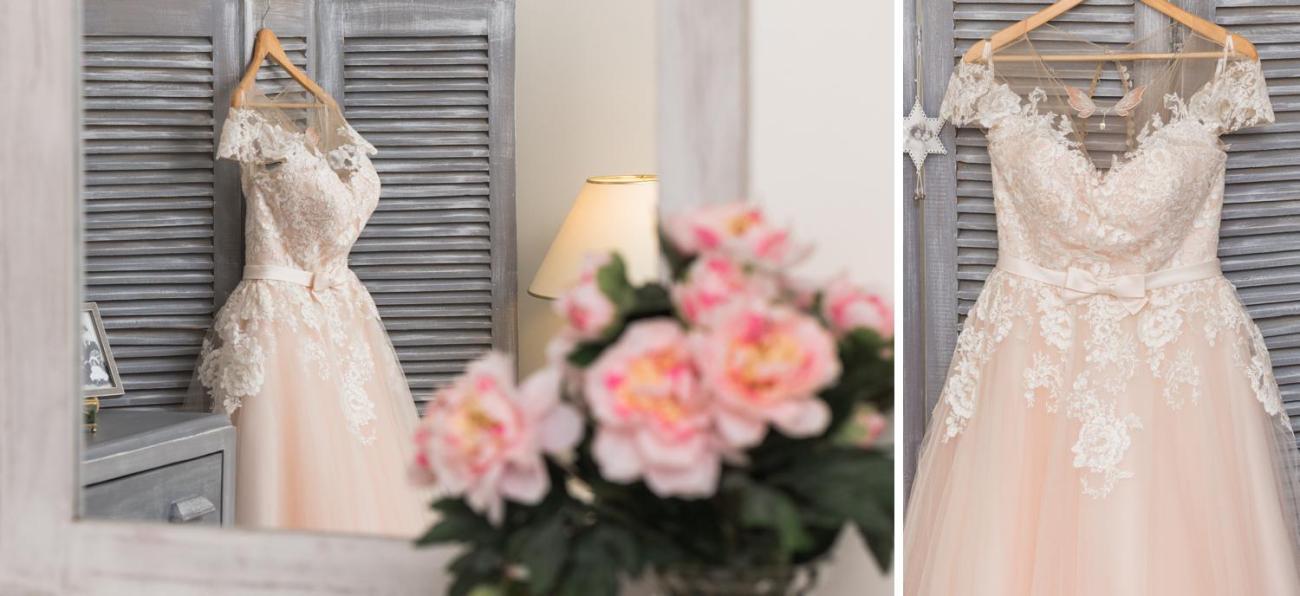 Photos de la robe féerique de la mariée