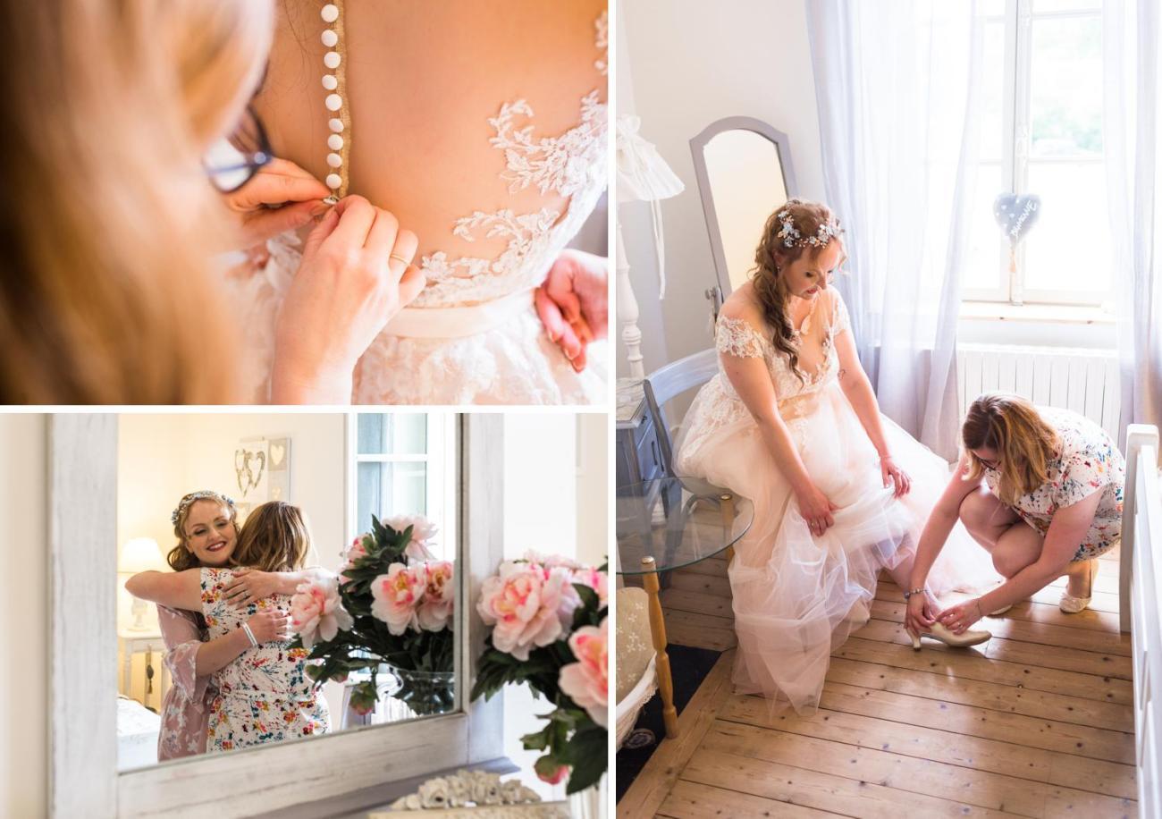 Préparatifs de la mariée lors d'un mariage féerique