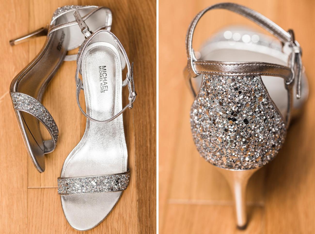 Détails des chaussures de mariage Michael Kors