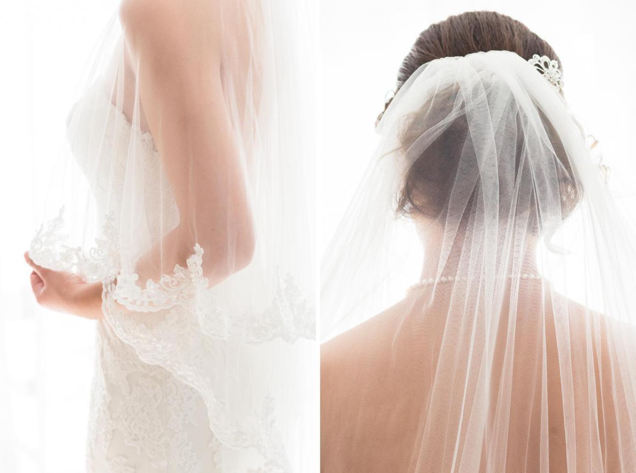 Détails de la robe de mariée d'un mariage à Paris