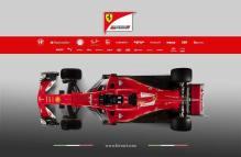 Ferrari SF70H góra prezentacja