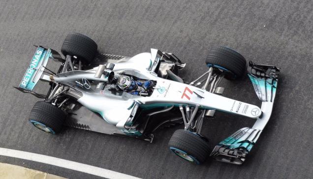 Mercedes W08 Bottas góra Silverstone