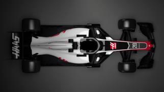 Bolid Haas F1 Team VF-18 góra