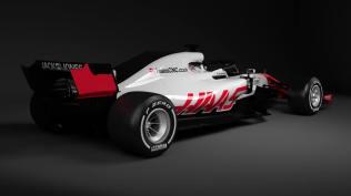 Bolid Haas F1 Team VF-18 tył