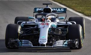 Mercedes W09 Hamilton przód prezentacja