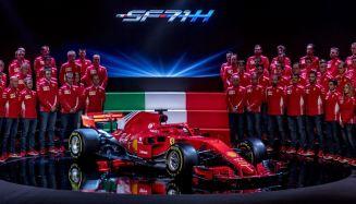 Scuderia Ferrari SF71H prezentacja skos