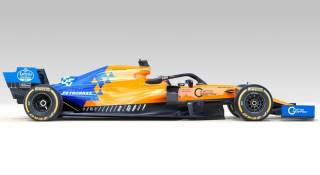 2019 McLaren MCL34 prezentacja grafika bok
