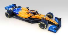 2019 McLaren MCL34 prezentacja grafika skos